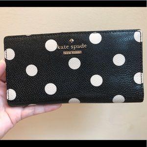 Kate Spade polka dot wallet